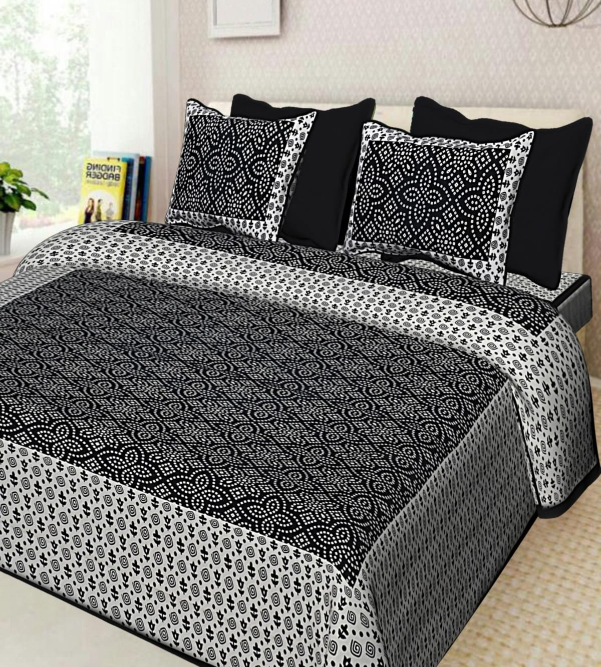 pure cotton double bed sheet