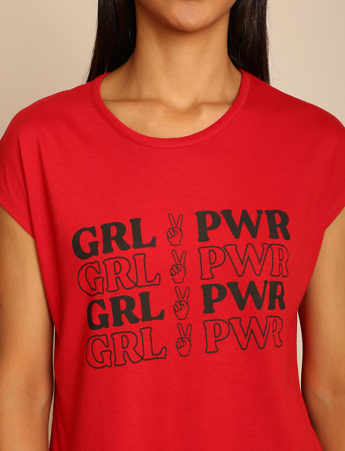 B&C red women t shirt