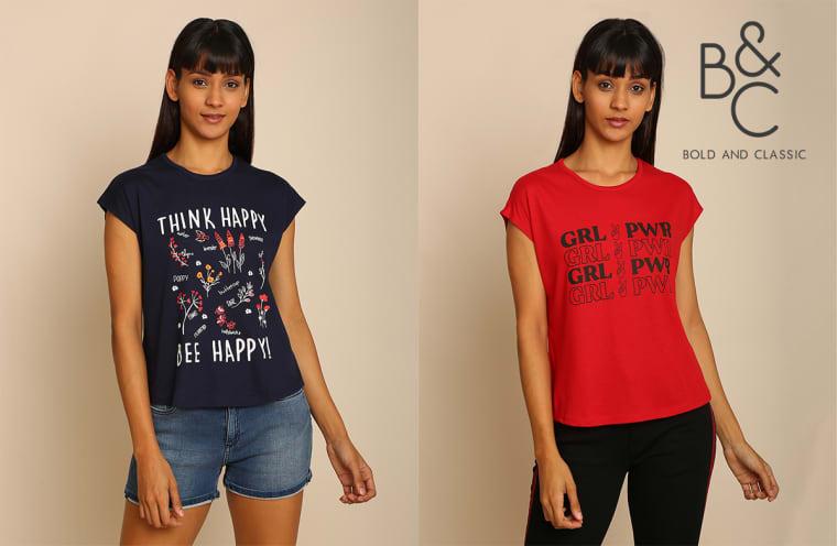 b&c women t shirt