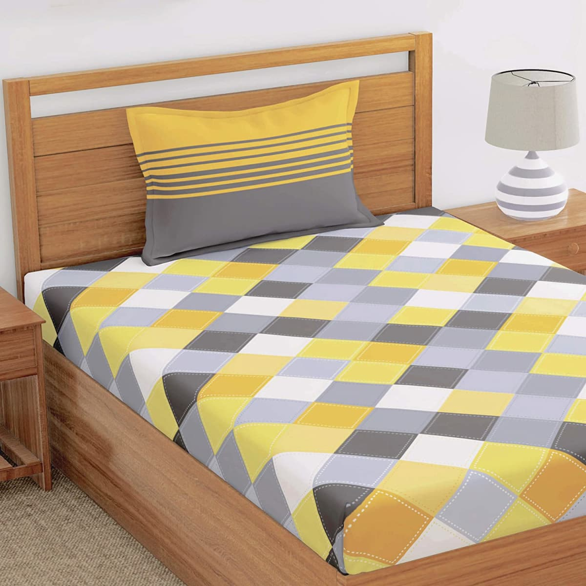 pure cotton single bedsheet