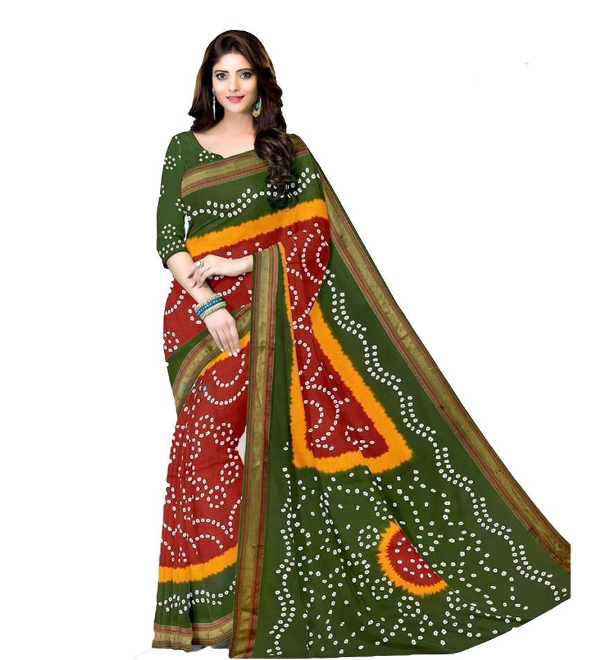 bandhni Pure Cotton saree